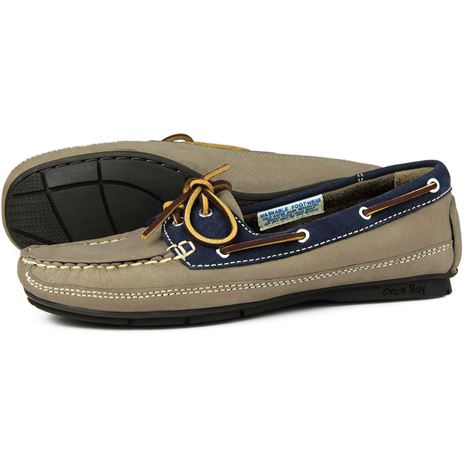 Orca Bay Bahamas Womens Deck Shoes - Taupe/Indigo.