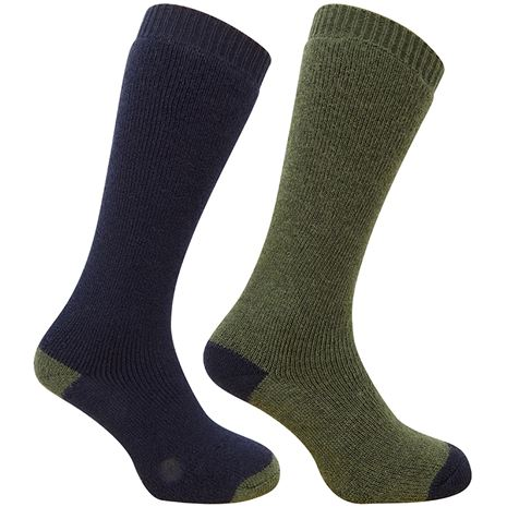 Hoggs of Fife Plain Turnover Top Sock (Twin Pack)