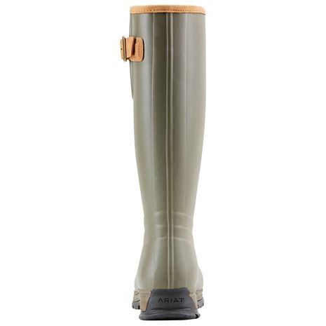 Ariat Women's Burford Wellington Boots - Olive Green - Rear