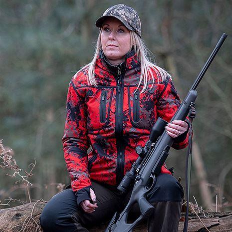 ShooterKing Women's Forest Mist Softshell Jacket - Red Forest Mist