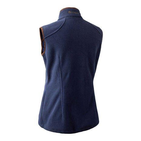 Deerhunter Lady Josephine Fleece Waistcoat - Graphite Blue - Rear