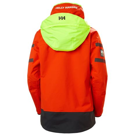 Helly Hansen Womens Skagen Offshore Jacket - Cherry Tomato - Rear