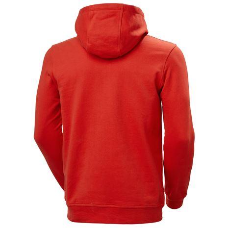 Helly Hansen HH Logo Hoodie - Alert Red - Rear