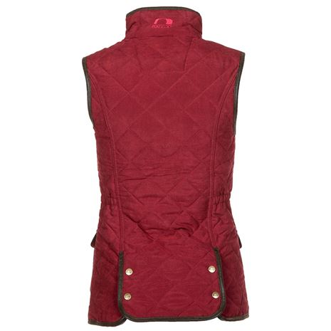 Baleno Scarlet Lady Gilet - Brick Red - Rear