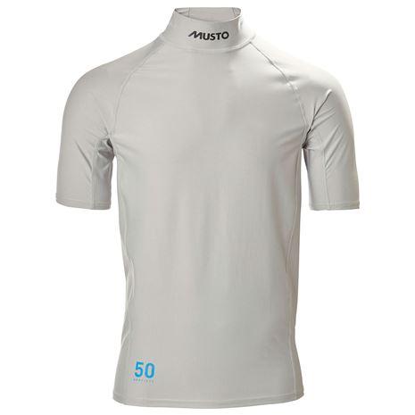Musto Sunblock Dynamic Short Sleeve T-Shirt - Light Grey