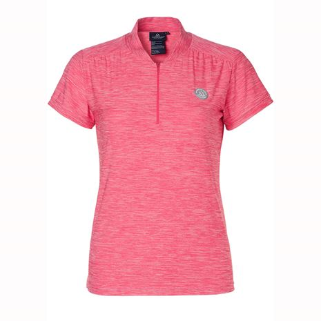 Mountain Horse Sky Tech Tee - Flashy Pink Melange - Front View