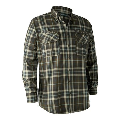 Deerhunter Caribou Check Shirt Green Check