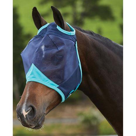Weatherbeeta Comfitec Fine Mesh Mask - Navy/Turquoise