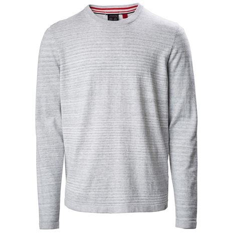 Musto Amalgam Crew Neck Knit - Grey Marl/White