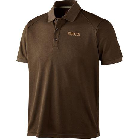 Harkila Gerit Polo Shirt - Demitasse Brown