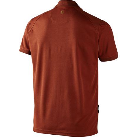 Harkila Gerit Polo Shirt - Rear - Burnt Orange