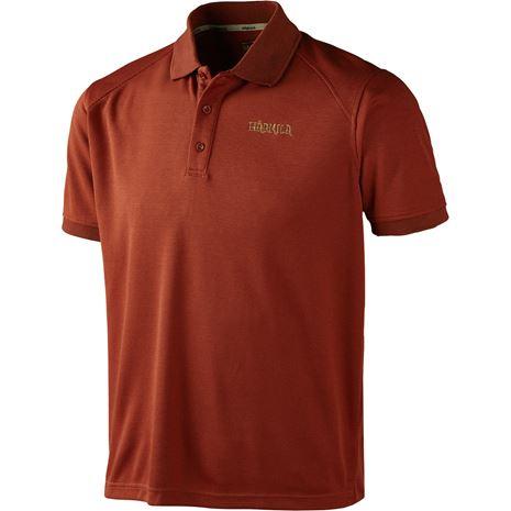 Harkila Gerit Polo Shirt - Burnt Orange