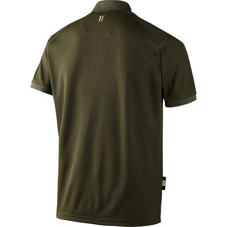 Harkila Gerit Polo Shirt - Rear - Dark Olive
