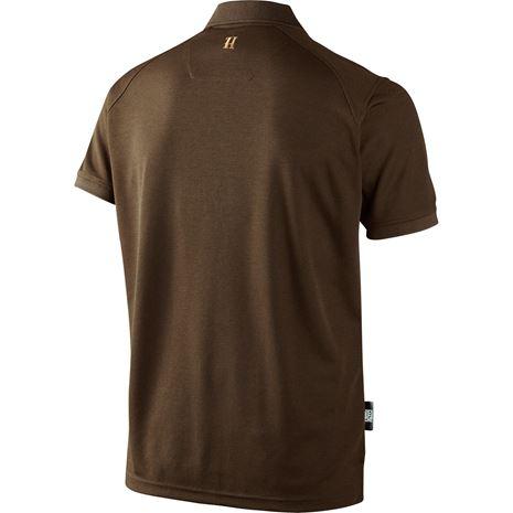 Harkila Gerit Polo Shirt - Rear - Demitasse Brown
