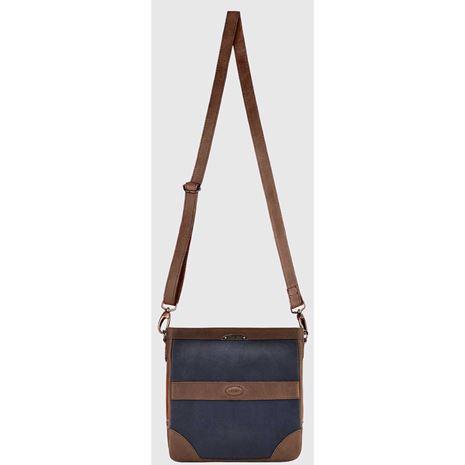 Dubarry ArdMore Leather Messenger Bag - Navy/Brown