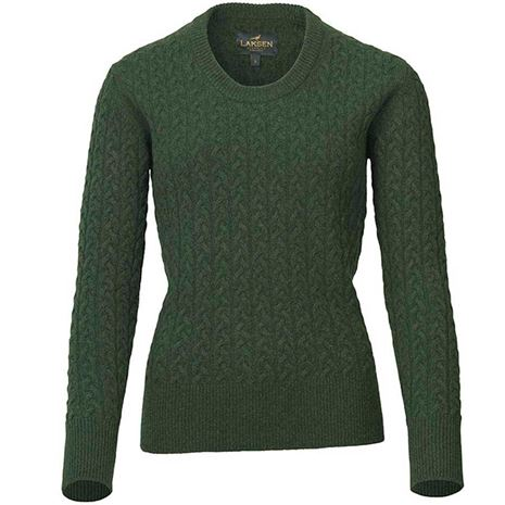 Laksen Burleigh Ladies Lambswool Cable Knit - Bottly
