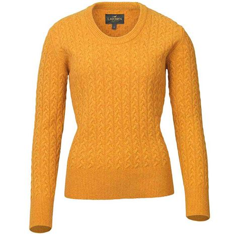 Laksen Burleigh Ladies Lambswool Cable Knit - Gorsy