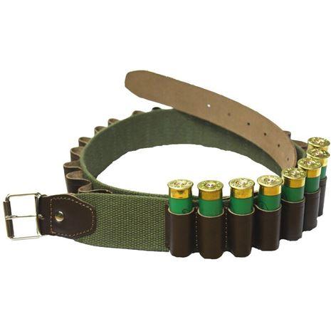 Bisley Leather on Webbing Cartridge Belt (25 Cartridges)