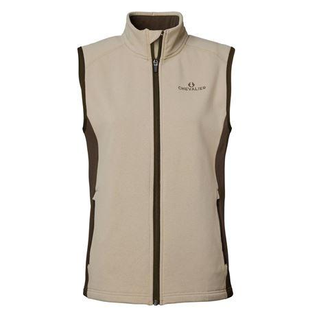 Chevalier Lenzie Women's Fleece Vest - Sand/Brown