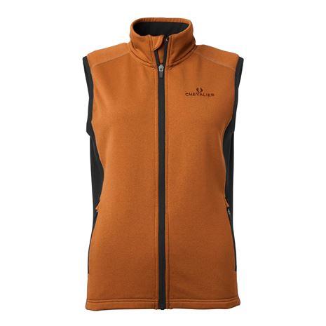 Chevalier Lenzie Women's Fleece Vest - Orange/Brown