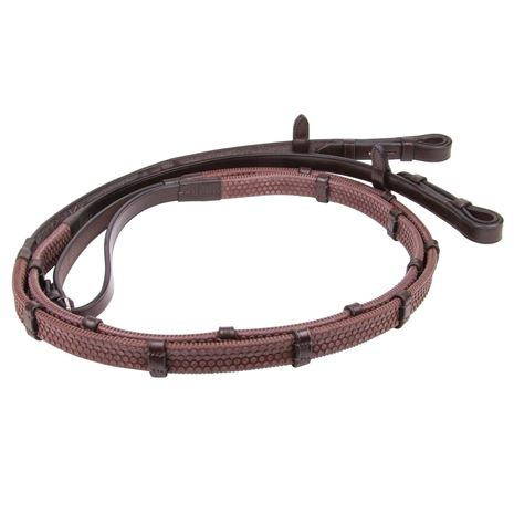 Mark Todd Rubber Continental Reins - Brown