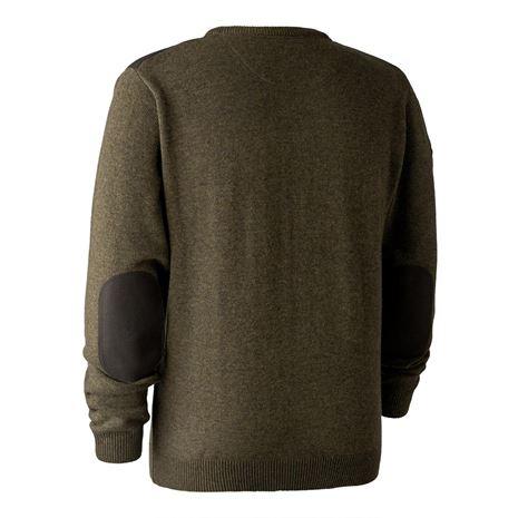 Deerhunter Sheffield Knit V-Neck Jumper  - Cypress