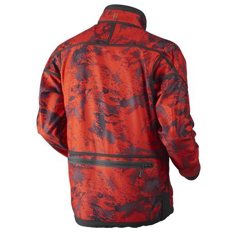 Harkila Lynx Reversible Jacket - Red Blaze - Willow Green