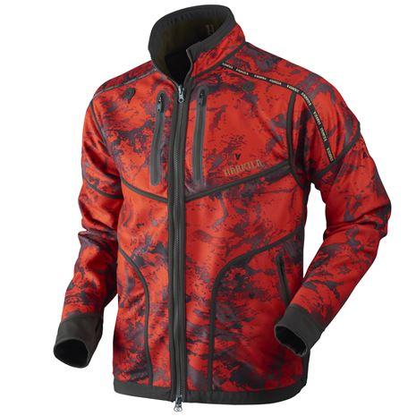 Harkila Lynx Reversible Jacket -Red Blaze - Willow Green