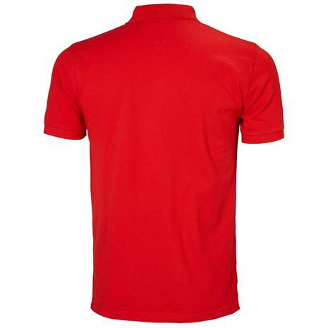 Helly Hansen Crew Polo Shirt - Alert Red - Rear