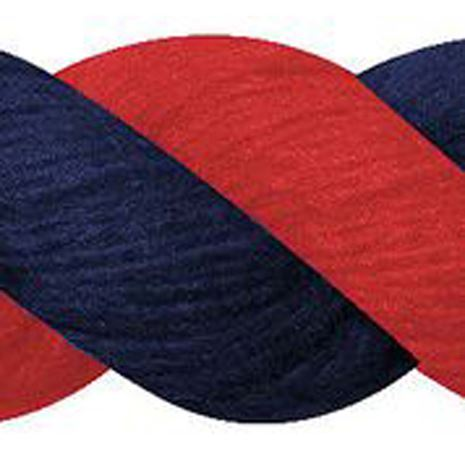 JHL Cotton Lead Rope - Red/Navy
