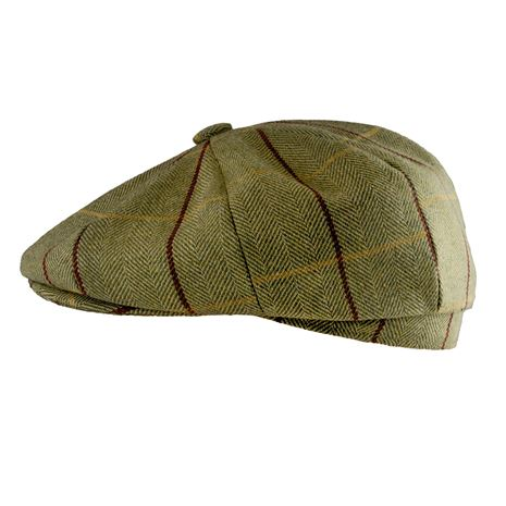 Jack Pyke Baker Boy Wool Blend Hat - Green Tweed
