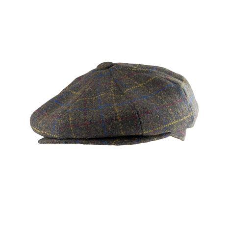 Jack Pyke Baker Boy Wool Blend Hat - Brown Check