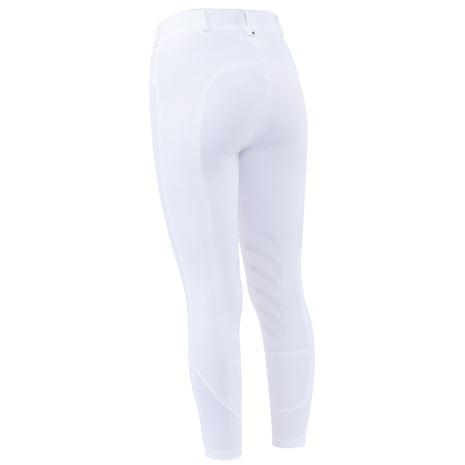 Dublin Prime Gel Knee Patch Breeches - White - Rear