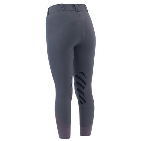 Dublin Prime Gel Knee Patch Breeches - Charcoal - Rear