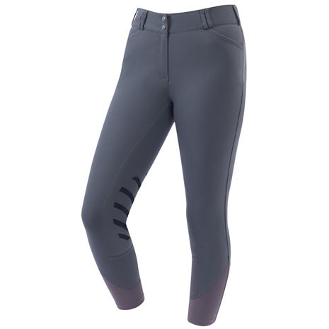 Dublin Prime Gel Knee Patch Breeches - Charcoal