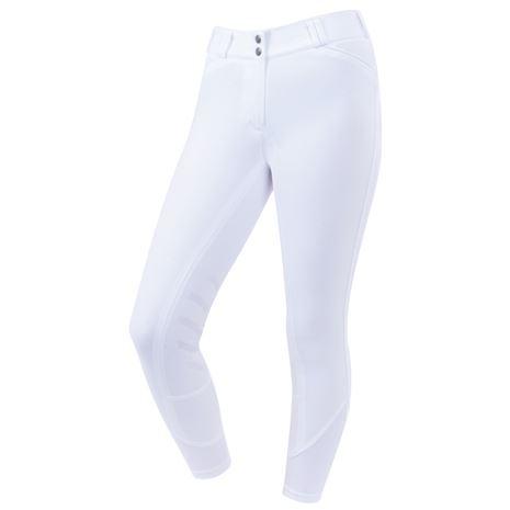 Dublin Prime Gel Knee Patch Breeches - White