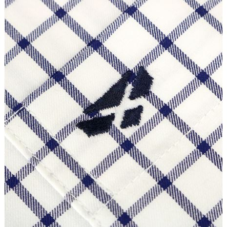 Hoggs Of Fife Turnberry Cotton Twill Shirt - White Navy