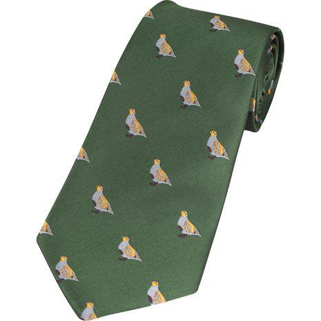 Jack Pyke Shooting Tie - Green Partridge