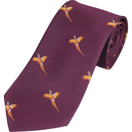 Jack Pyke Shooting Tie - Wine Pheasant