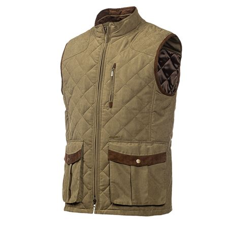 Baleno Thames Men's Quilted Gilet - Light Khaki