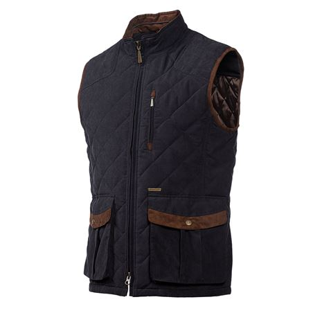 Baleno Thames Men's Quilted Gilet - Dark Navy Blue