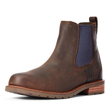 Ariat Men's Wexford H2O Chelsea Boot - Mocha/Navy