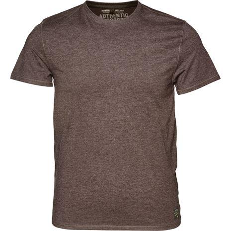 Seeland Basic T-Shirt 2-Pack - Moose Brown - Front