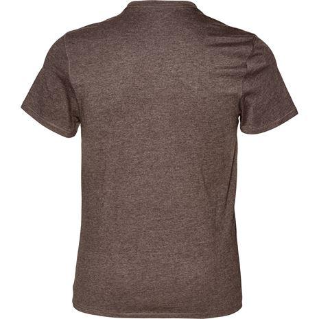 Seeland Basic T-Shirt 2-Pack - Moose Brown - Rear