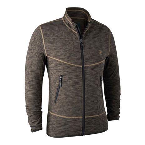 Deerhunter Norden Insulated Fleece Jacket - Brown Melange