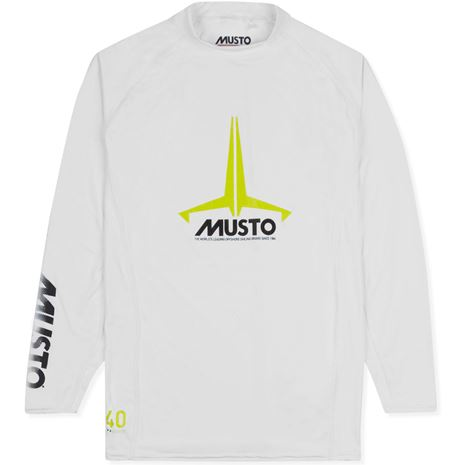 Musto Youth Insignia UV Fast Dry Long Sleeve T-Shirt - White