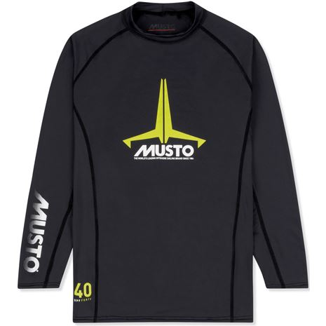 Musto Youth Insignia UV Fast Dry Long Sleeve T-Shirt - Black