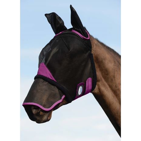 Weatherbeeta Comfitec Durable Mesh Masks - Ears and Nose cover - Black/Purple