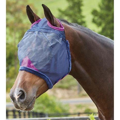 Weatherbeeta Comfitec Durable Mesh Masks - Navy/Purple