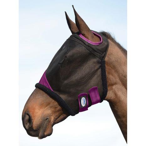 Weatherbeeta Comfitec Durable Mesh Mask - Black/Purple